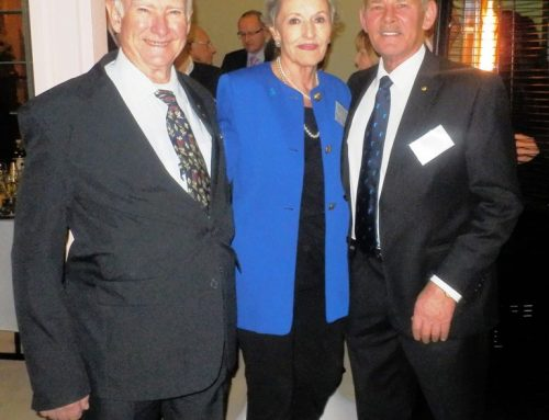 Alan and Gabrielle Moran with Tony Sonneveld at OAM Presentation